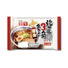 北海道3人前生ラーメン醤油